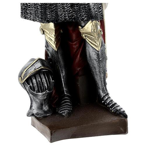 Estatua yeso nacarado Juana De Arco 45 cm 7