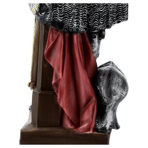 Estatua yeso nacarado Juana De Arco 45 cm 8