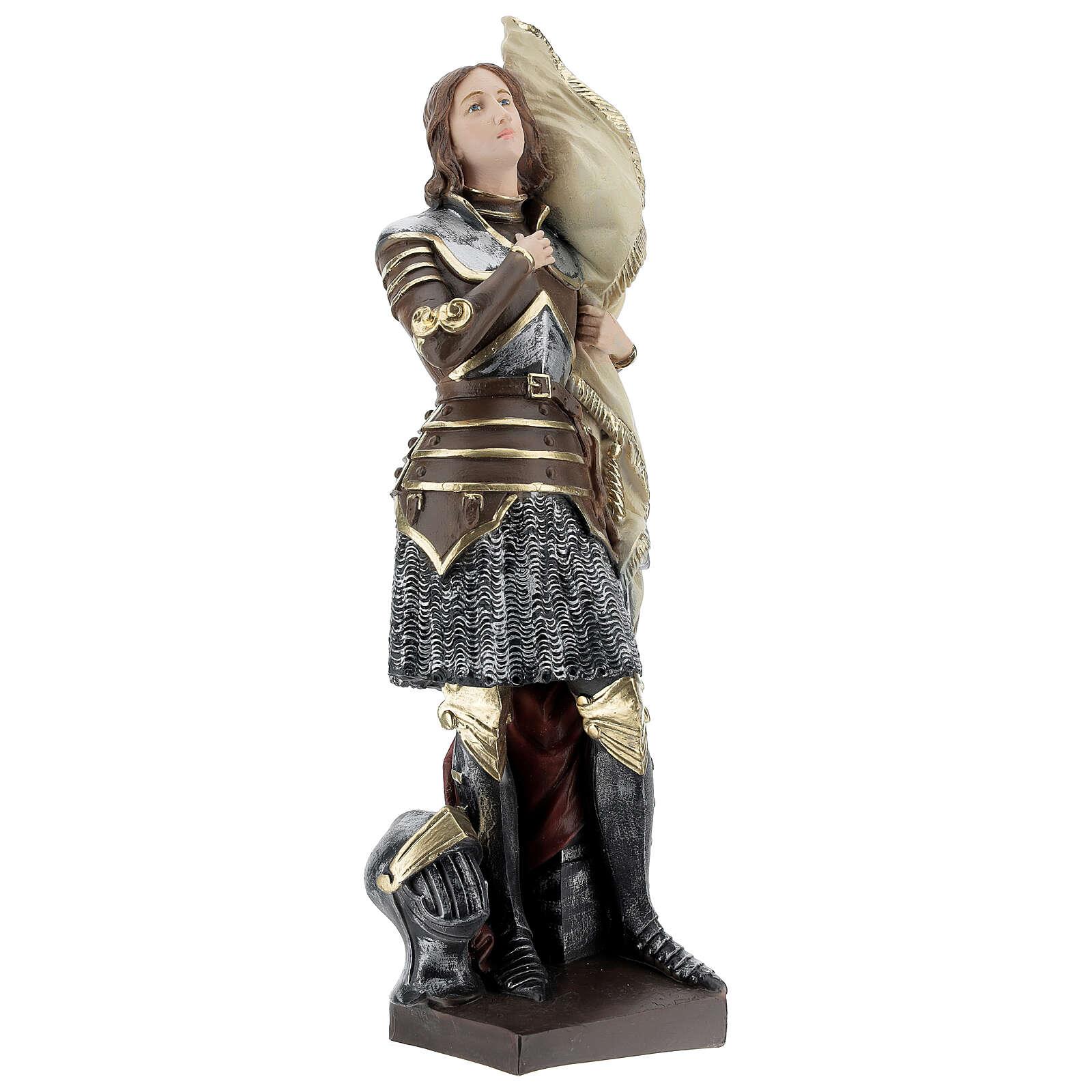 Statue plâtre nacré Jeanne d'Arc 45 cm 4