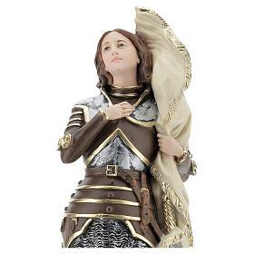 Statue plâtre nacré Jeanne d'Arc 45 cm s2