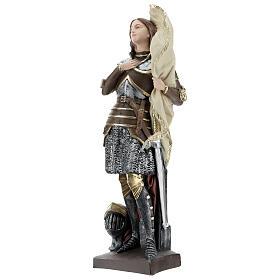 Statue plâtre nacré Jeanne d'Arc 45 cm s3