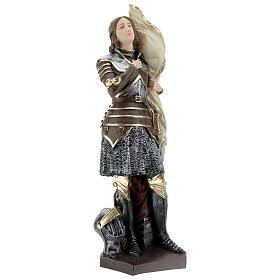 Statue plâtre nacré Jeanne d'Arc 45 cm s4