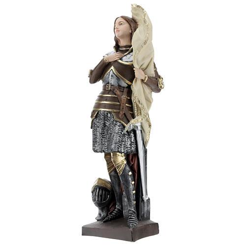 Statue plâtre nacré Jeanne d'Arc 45 cm 3