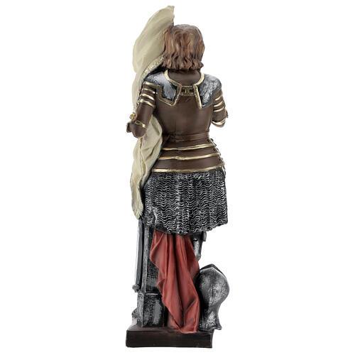 Statue plâtre nacré Jeanne d'Arc 45 cm 5