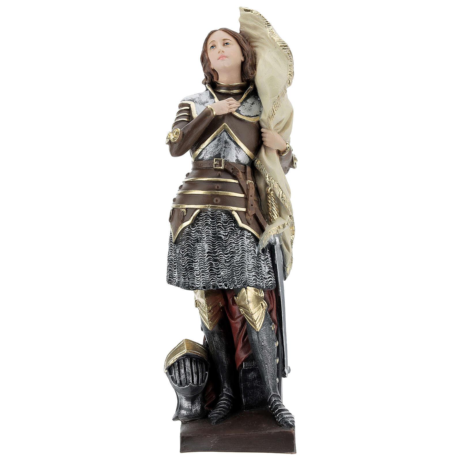 Statua gesso madreperlato Giovanna d'Arco 45 cm 4