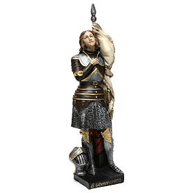 Statua gesso madreperlato Giovanna d'Arco 45 cm s4