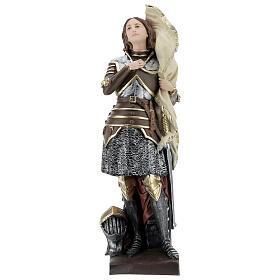 Statua gesso madreperlato Giovanna d'Arco 45 cm s1