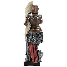 Statua gesso madreperlato Giovanna d'Arco 45 cm s5