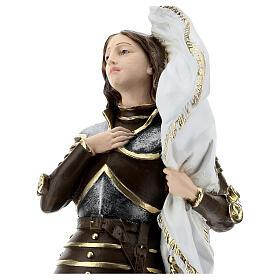 Statua gesso madreperlato Giovanna d'Arco 45 cm s2