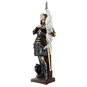 Statua gesso madreperlato Giovanna d'Arco 45 cm s3