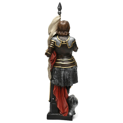 Statua gesso madreperlato Giovanna d'Arco 45 cm 5