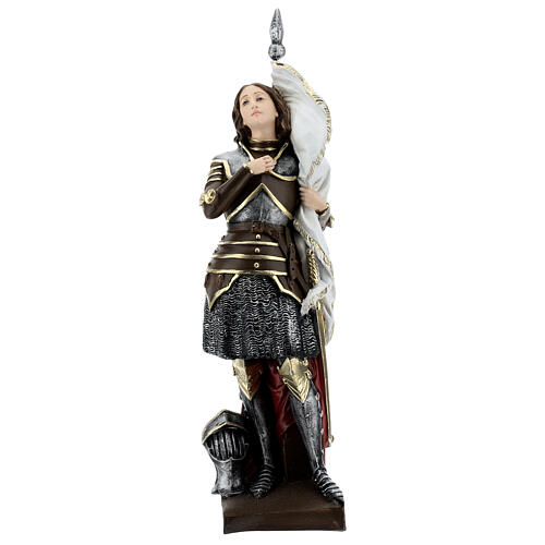 Joan of Arc Statue, 45 cm in plaster with mother of pearl 1
