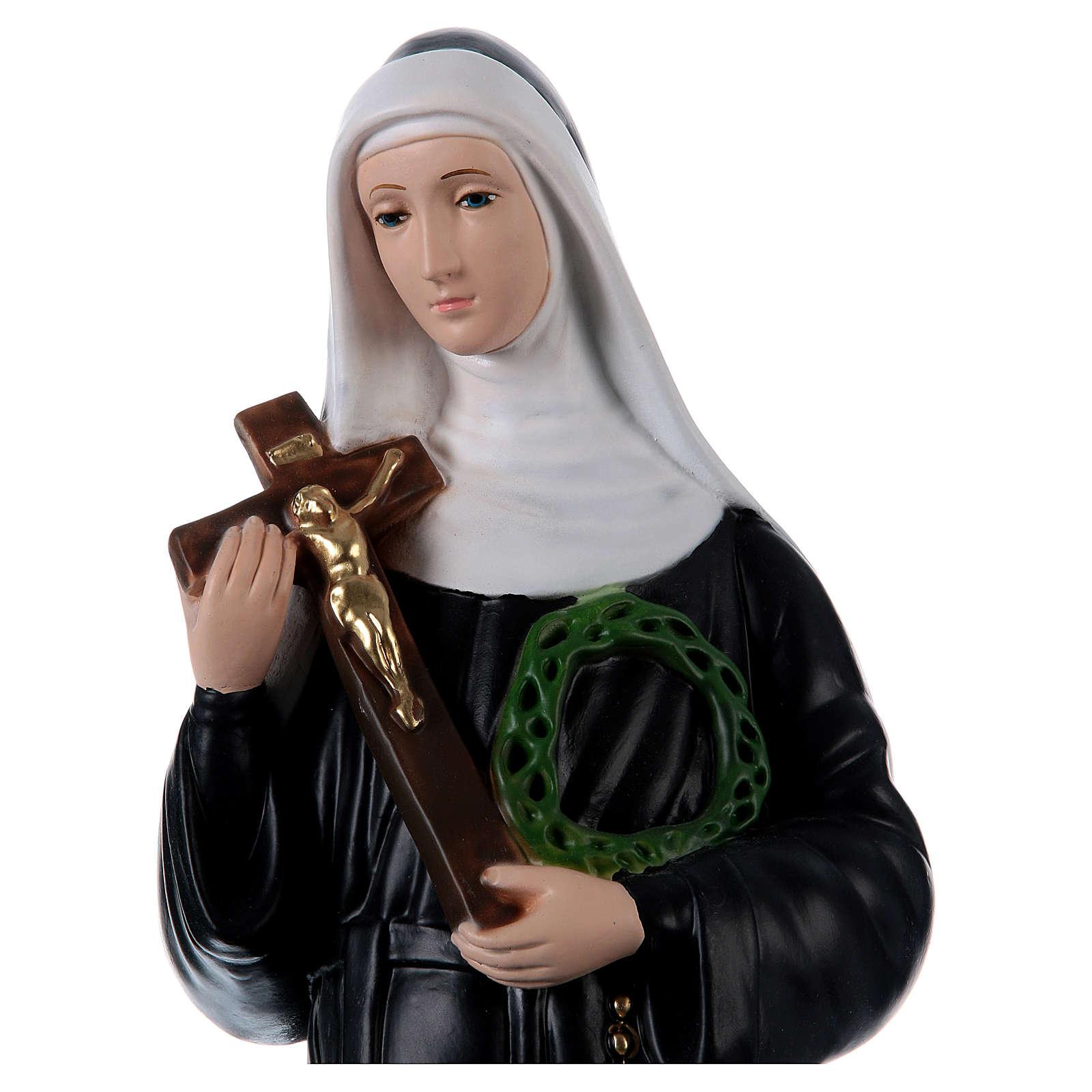 Sainte Rita 60 cm statue en plâtre peint 4