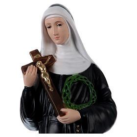 Santa Rita 60 cm imagem gesso pintado
