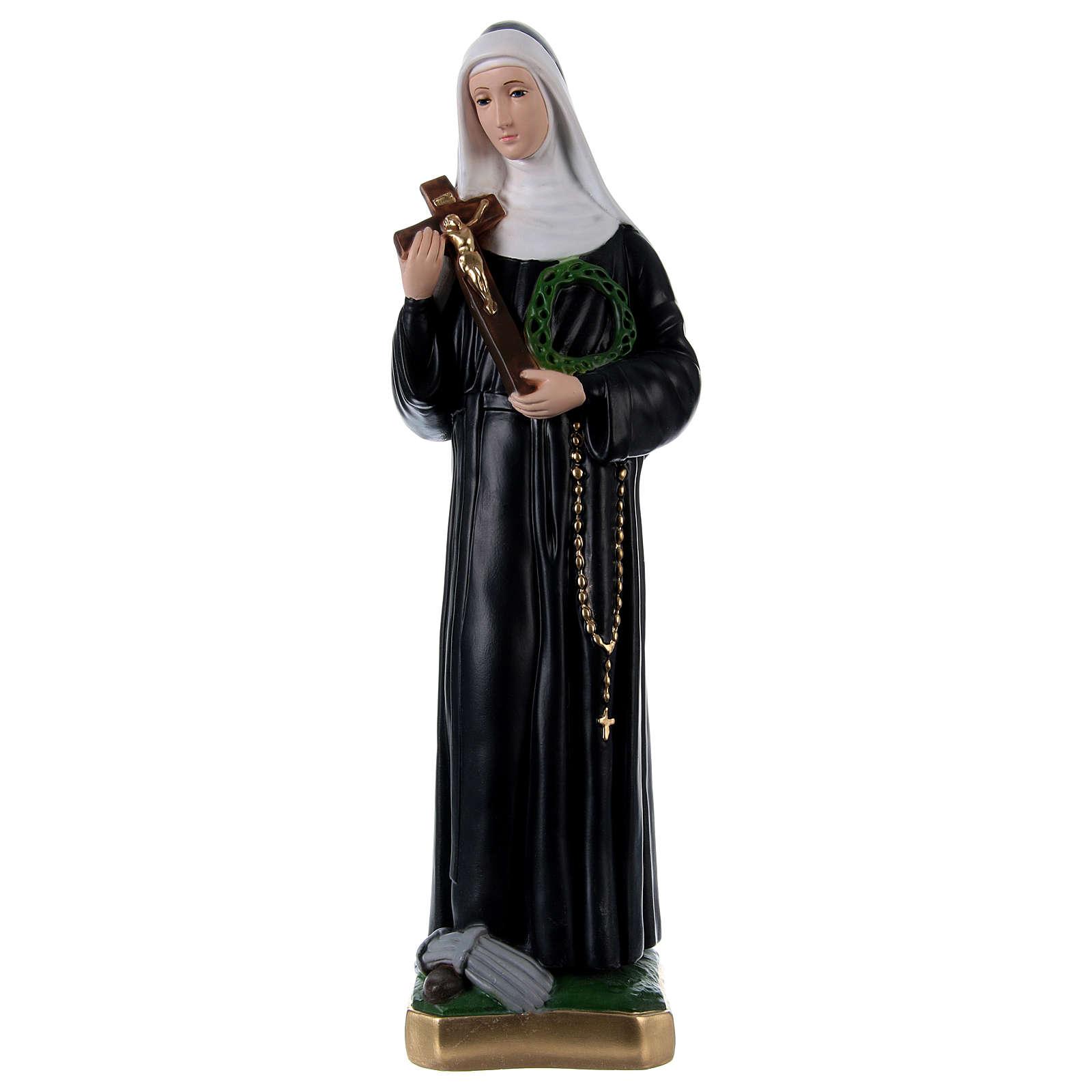 Saint Rita 60 cm Statue, in painted plaster 4