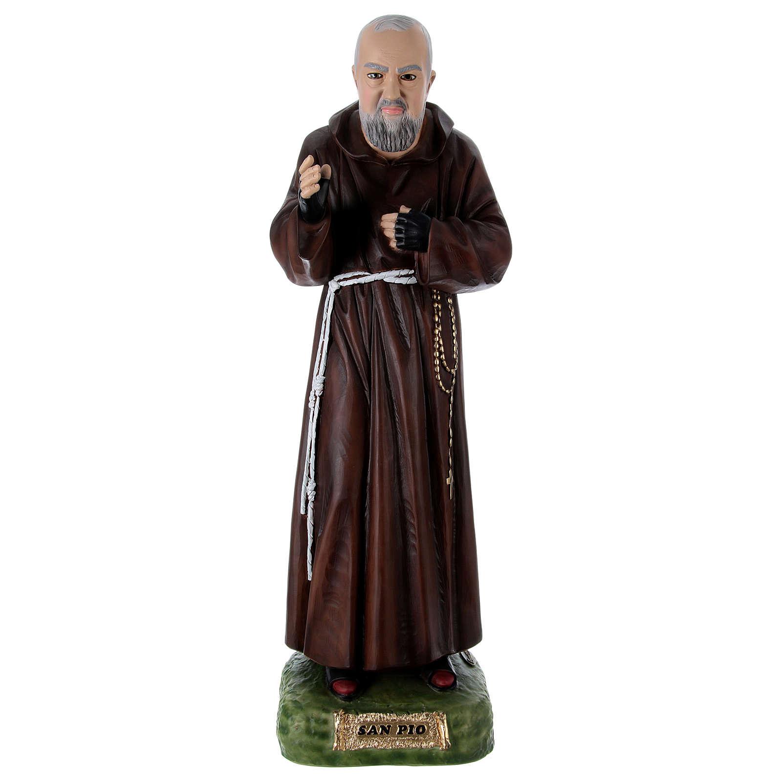 Padre Pio 95 cm en résine peinte 4