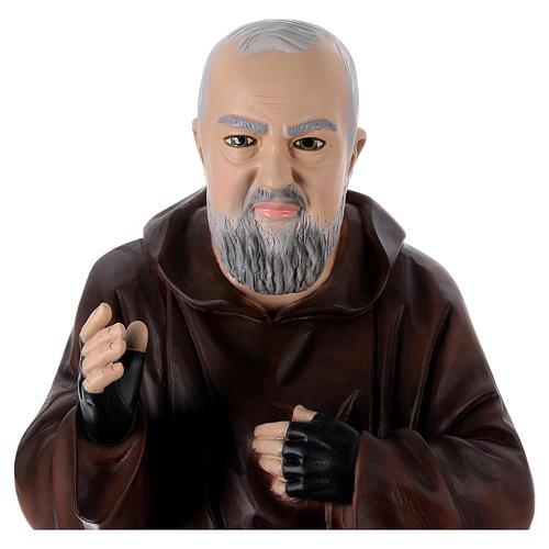 Padre Pio 95 cm en résine peinte 2