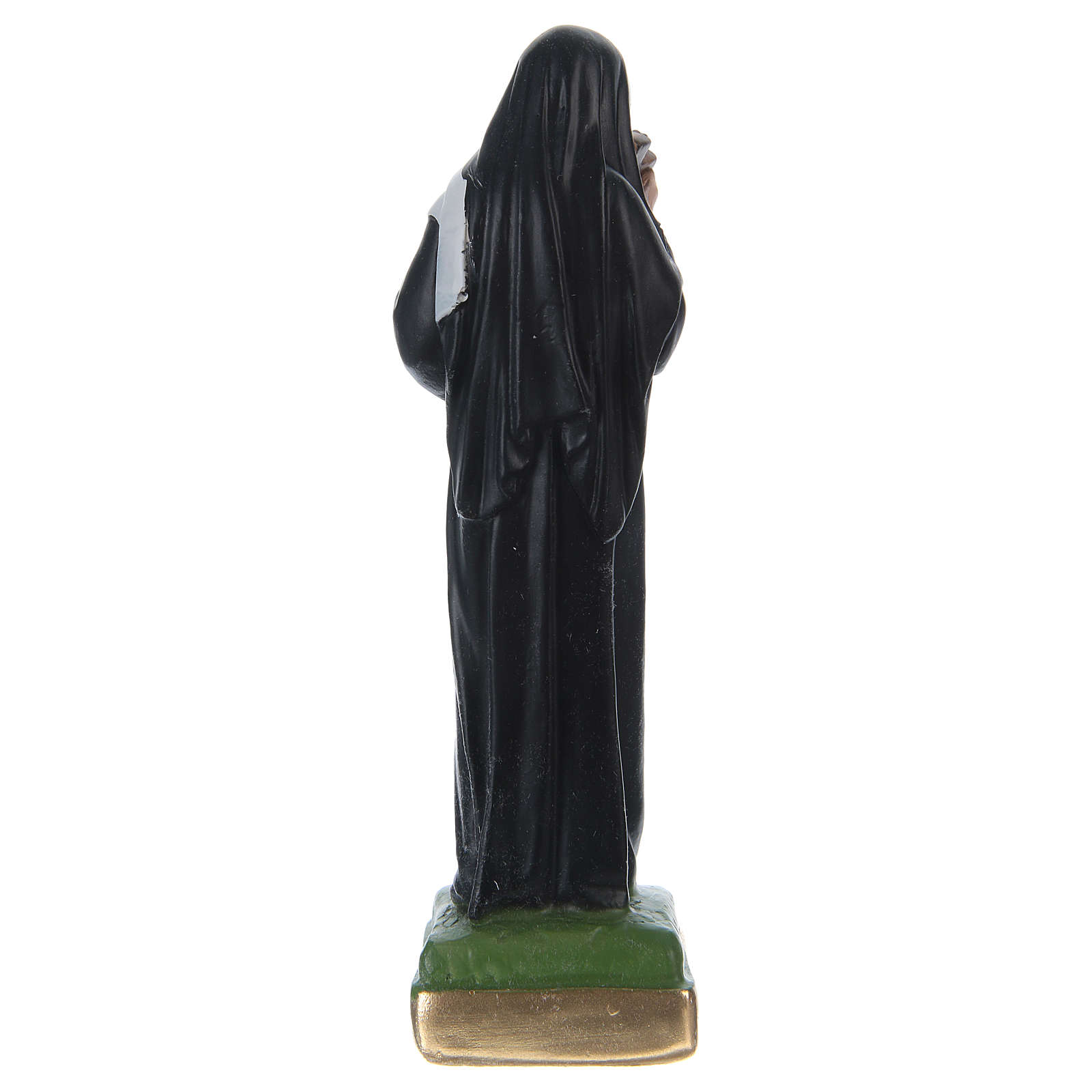 Saint Rita statue in painted plaster, 15 cm 4