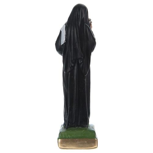 Saint Rita statue in painted plaster, 15 cm 3