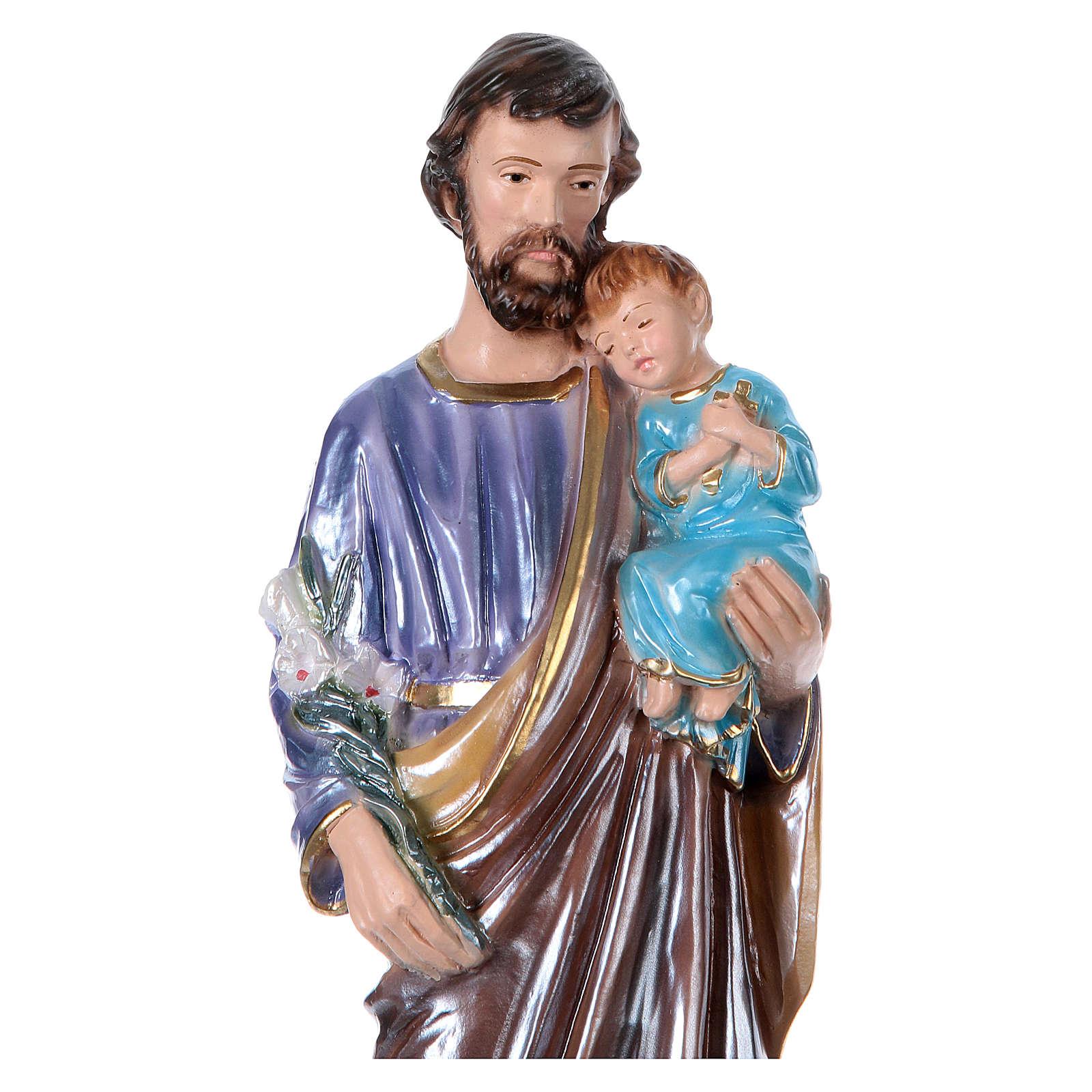 Heiliger Josef 30cm perlmuttartigen Gips 4
