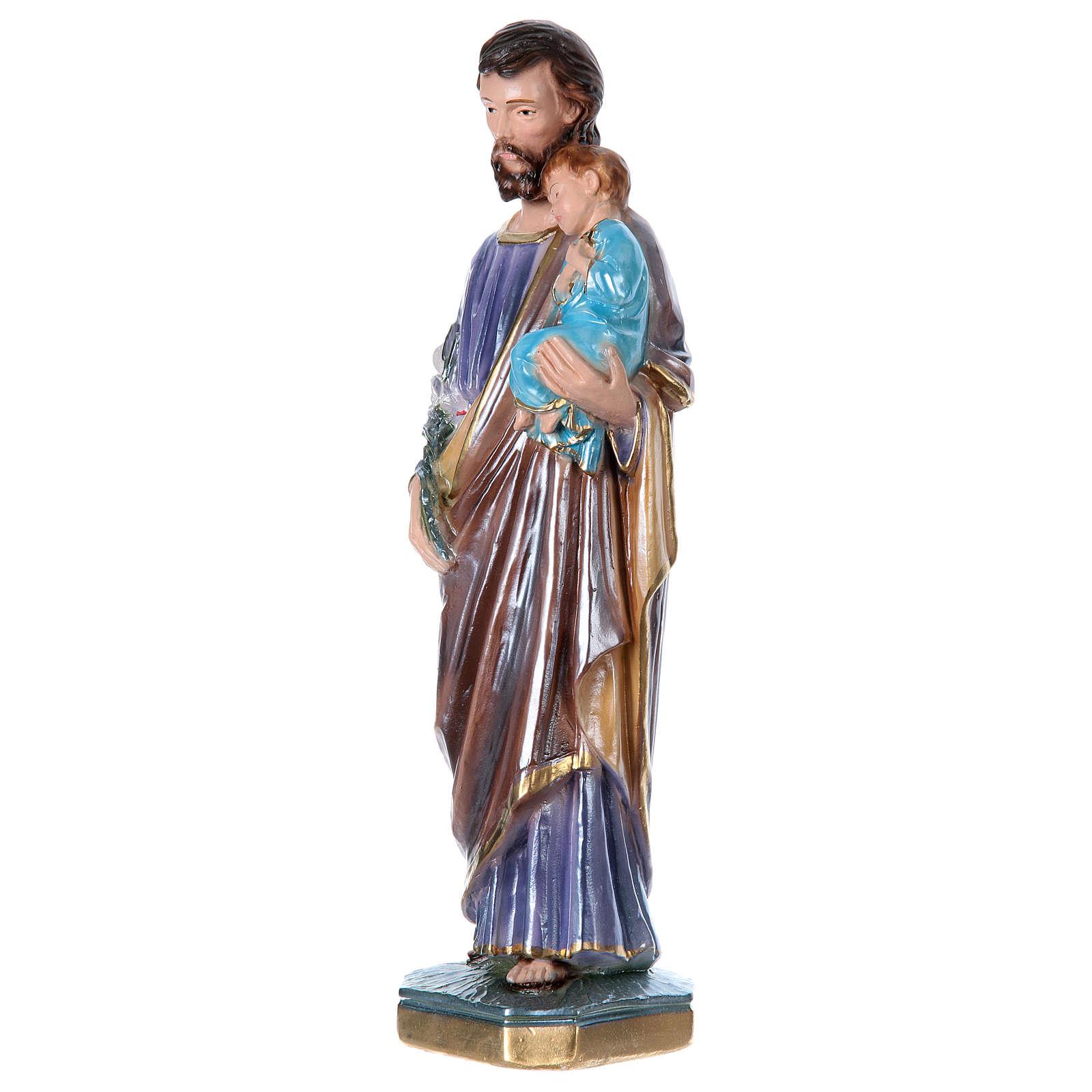 St Joseph 30 cm in mother-of-pearl plaster 4