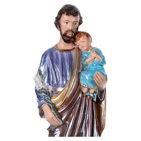 St Joseph 30 cm in mother-of-pearl plaster s2