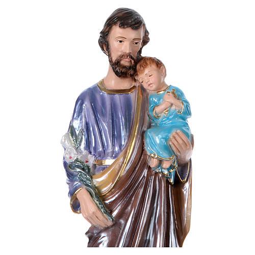 St Joseph 30 cm in mother-of-pearl plaster 2