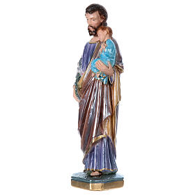 St. Joseph 30 cm Statue, in plater with mother of pearl s3