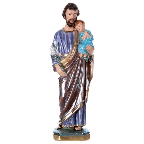 St. Joseph 30 cm Statue, in plater with mother of pearl 1