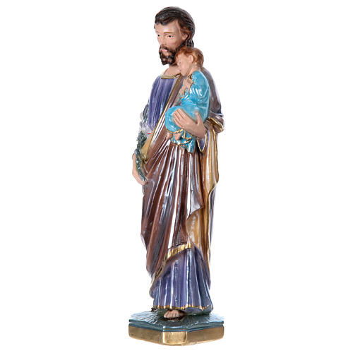 St. Joseph 30 cm Statue, in plater with mother of pearl 3