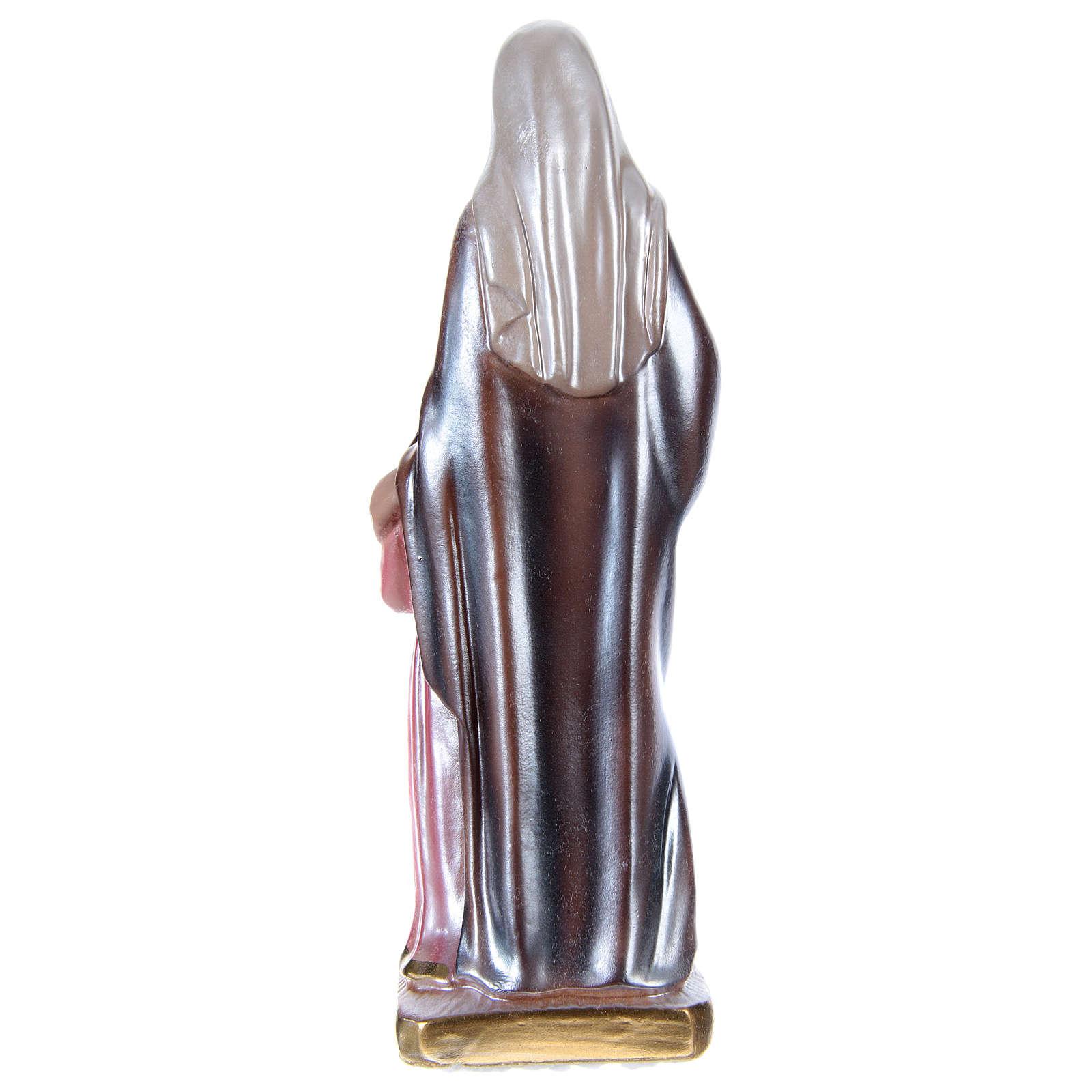 Statue plâtre nacré Sainte Anne 20 cm 4