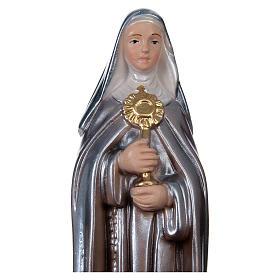 Sainte Claire 20 cm plâtre nacré s2