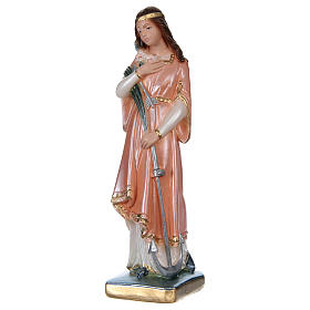 Statue of Saint Philomena, 20 cm in plaster with mother of pearl s3