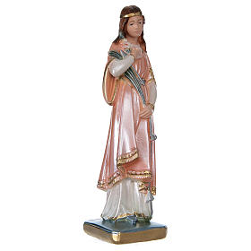 Statue of Saint Philomena, 20 cm in plaster with mother of pearl s4