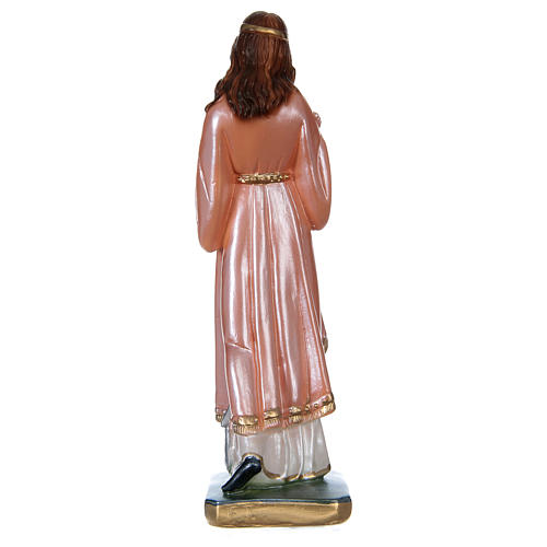 Statue of Saint Philomena, 20 cm in plaster with mother of pearl 5