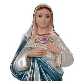 Święte Serce Maryi 20 cm gips efekt masy perłowej s2