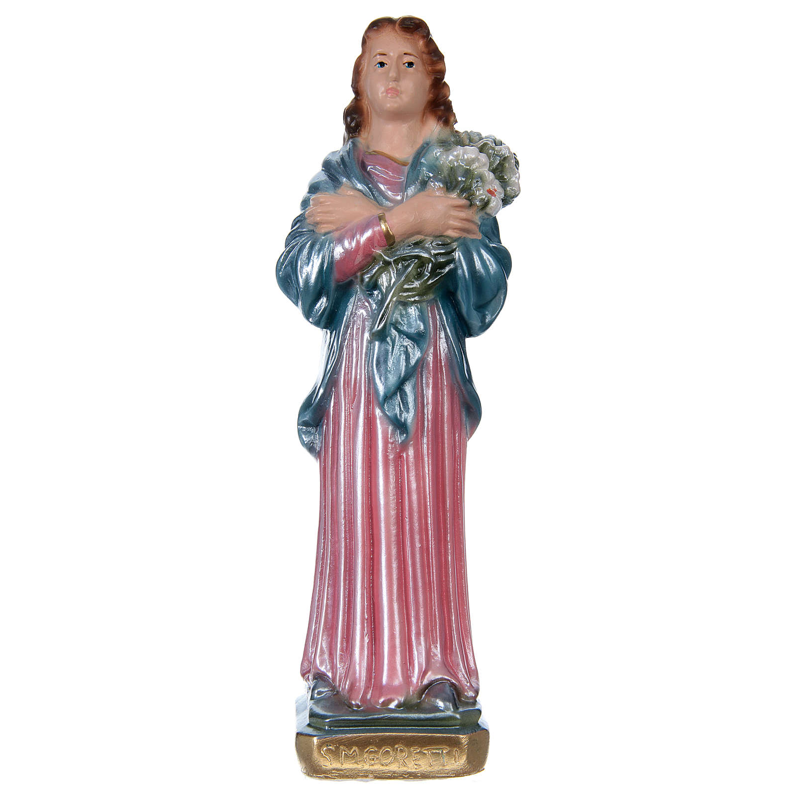 Santa Maria Goretti 20 cm gesso madreperlato 4