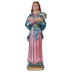Santa Maria Goretti 20 cm gesso madreperlato s1