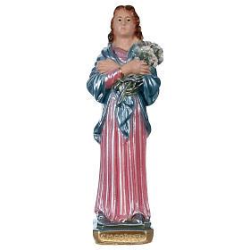 Imagens em Gesso: Santa Maria Goretti 20 cm gesso efeito madrepérola