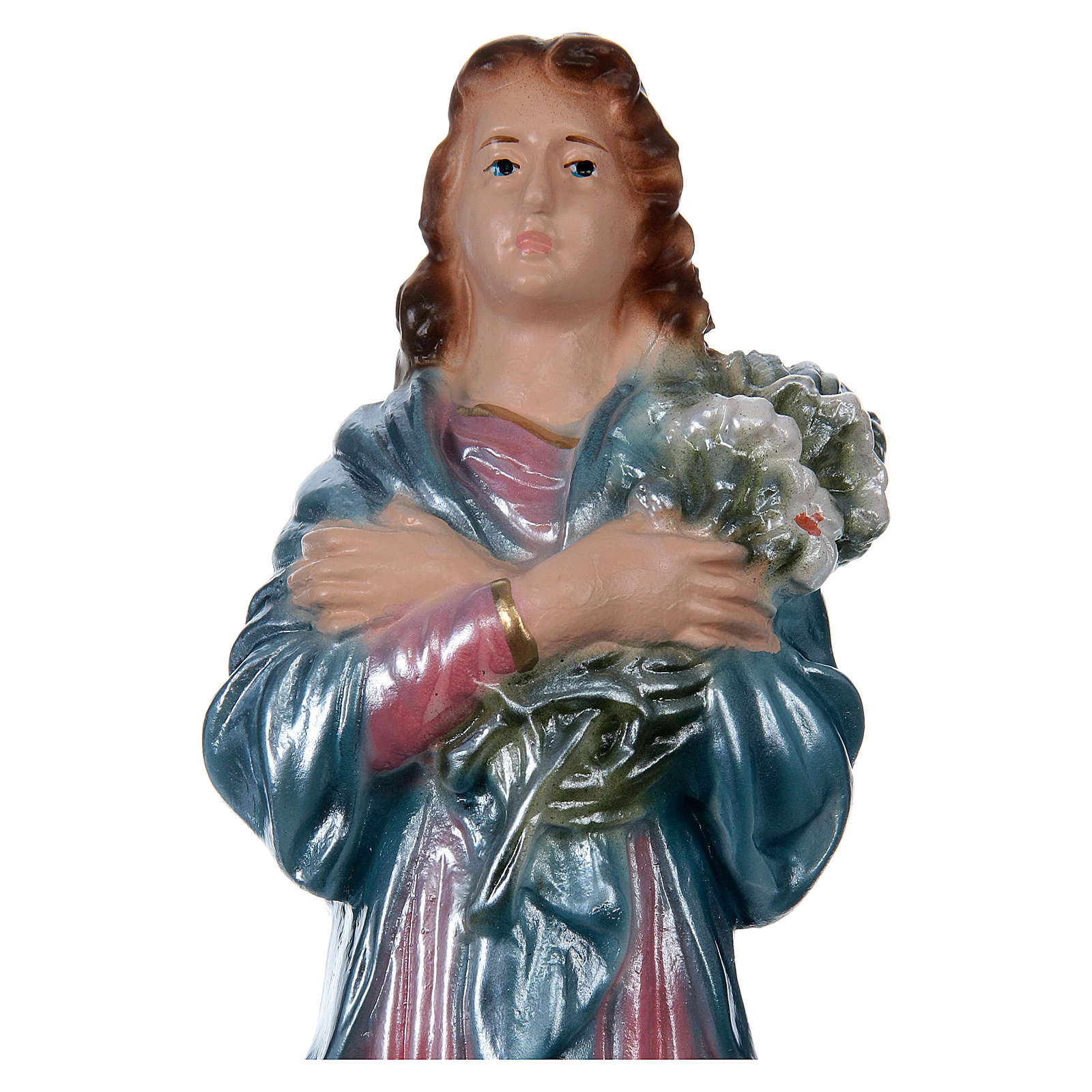 St. Mary Goretti Statue, 20 cm in plaster with mother of pearl 4