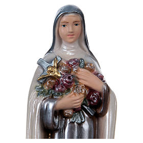 St Theresa 20 cm in mother-of-pearl plaster s2