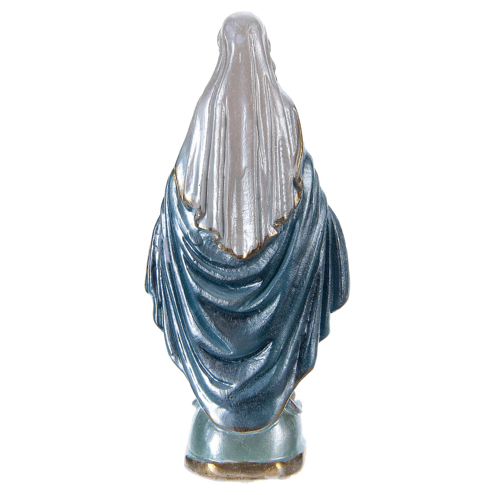 Blessed Mother statue in pearlized plaster, 15 cm 4