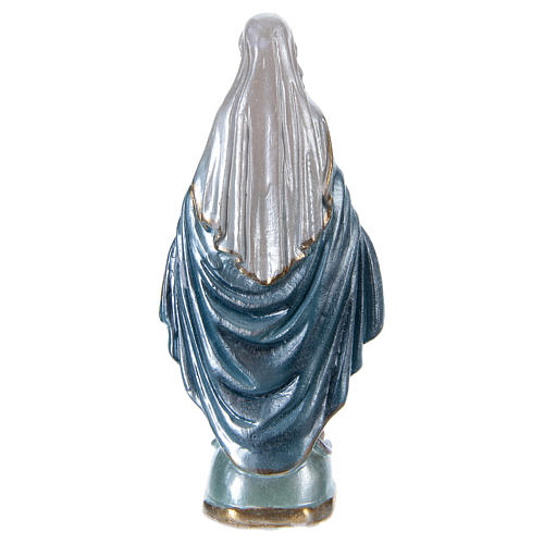 Blessed Mother statue in pearlized plaster, 15 cm 3