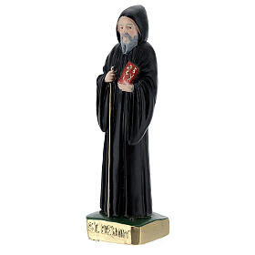 Saint Benoît 15 cm plâtre peint s2