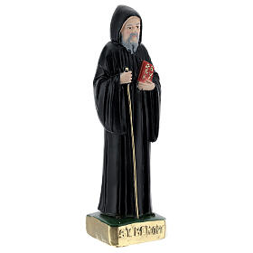 Saint Benoît 15 cm plâtre peint s3