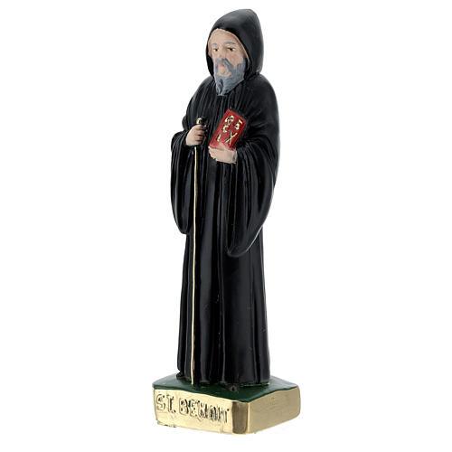 Saint Benoît 15 cm plâtre peint 2