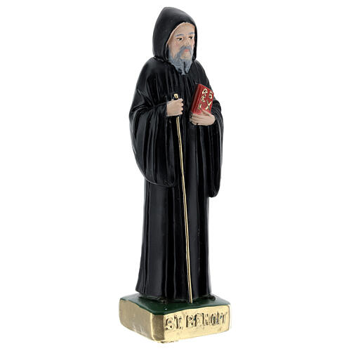 Saint Benoît 15 cm plâtre peint 3