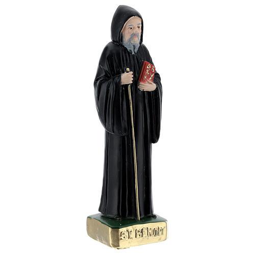 San Benedetto 15 cm gesso dipinto 3