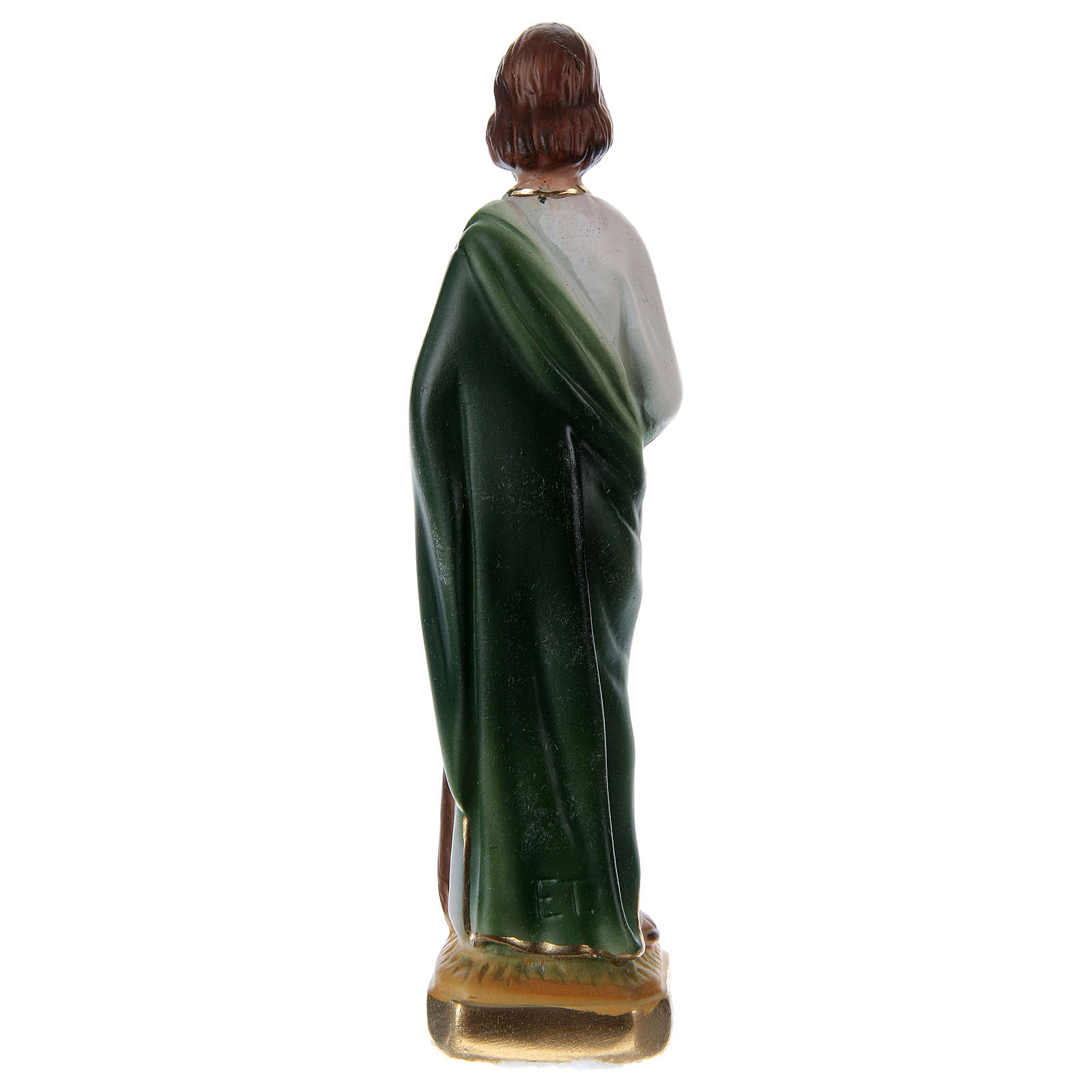 St Jude 15 cm in painted plaster 4