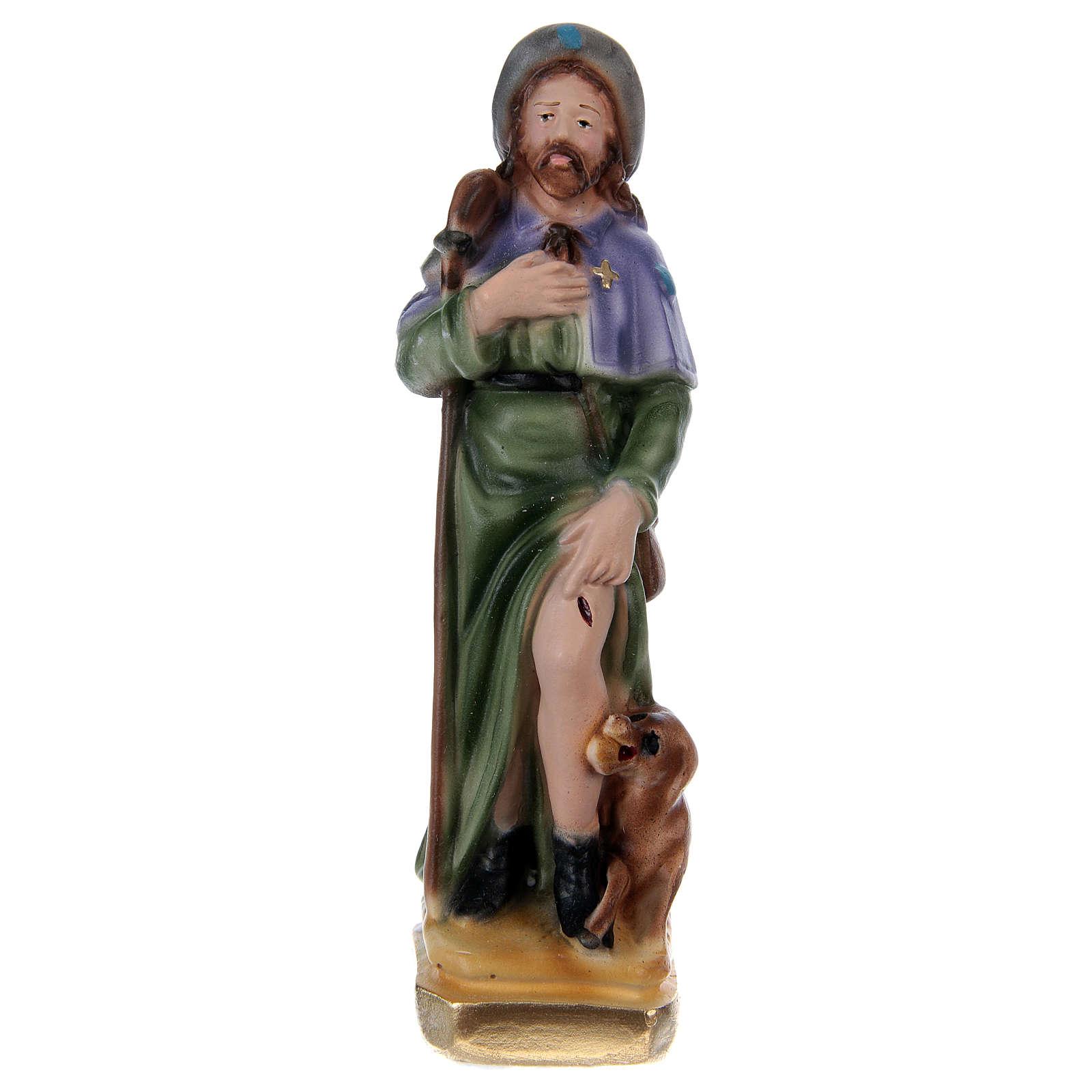 St Roch in plaster h 15 cm 4